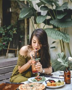 Ambience The Alleyway Cafe Denpasar with model - Dewata ID