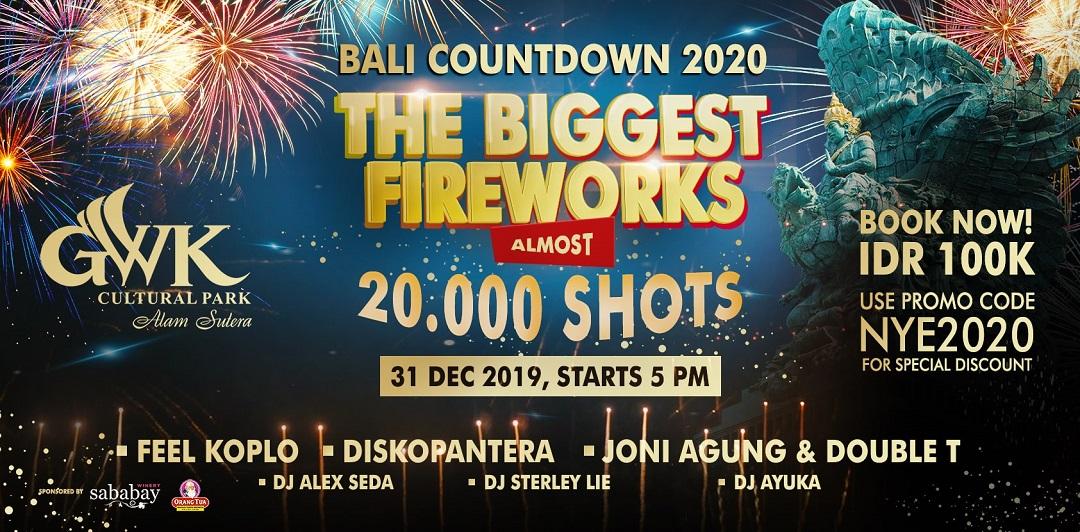 Pesta Tahun Baru 20.000 Kembang Api di GWK Bali - Event Dewata ID
