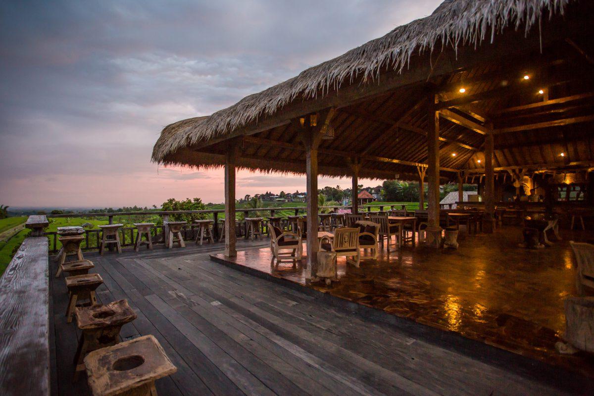 Suasana Sore Restoran Gong Jatiluwih Tabanan Bali