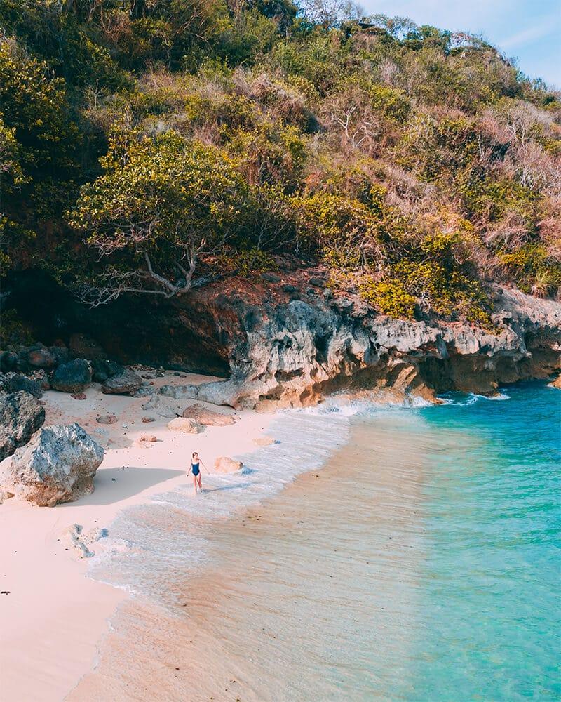 Lokasi Pantai Green Bowl Bali Indonesia